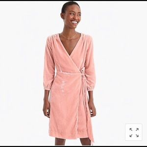 J.Crew Velvet Drapey Wrap Dress